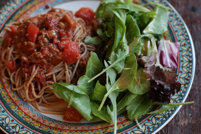pasta-w-salad